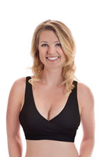 Rumina Classic Crossover Hands-Free Pump & Nurse Bra (Black) by Rumina