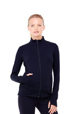 Ingrid & Isabel Side Zip Active Maternity Jacket (Jet Black) by Ingrid & Isabel