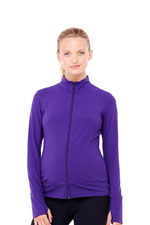 Ingrid & Isabel Side Zip Active Maternity Jacket (Purple) by Ingrid & Isabel