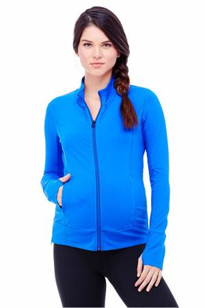 Ingrid & Isabel Side Zip Active Maternity Jacket (Royal) by Ingrid & Isabel