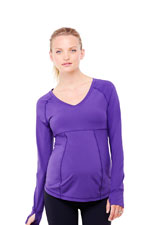 Long Sleeve Active Top (Royal Purple) by Ingrid & Isabel