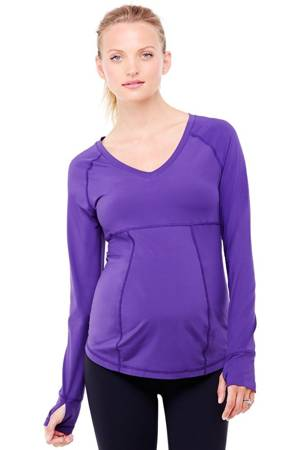 Ingrid & Isabel Long Sleeve Active Maternity Top (Royal Purple) by Ingrid & Isabel