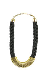 Katie Jumbo Rope Braided Necklace (Black) by Jewelry Accessories