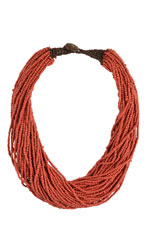 Kaitlyn Jumbo Beaded Necklace (Red) by Jewelry Accessories