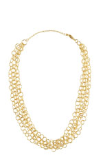 Christina Mini Ring Chain Necklace (Gold) by Jewelry Accessories