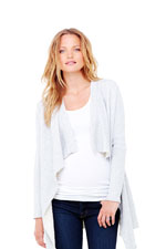 Ingrid & Isabel Drape Front Maternity Cardigan (Light Heather Grey) by Ingrid & Isabel