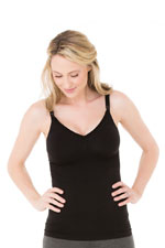 Ingrid & Isabel Seamless Drop Cup Nursing Cami (Black) by Ingrid & Isabel
