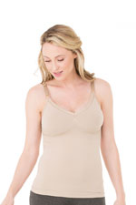 Ingrid & Isabel Seamless Drop Cup Nursing Cami (Nude) by Ingrid & Isabel