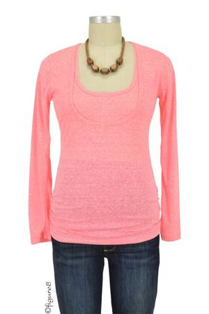 Bun Tri-Blend Cozy  Long Sleeve Tee (Hotpink) by Bun Maternity & Nursing