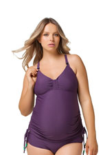 Rosewater by Cake- Shake Nursing Tankini (Purple) by Cake Lingerie