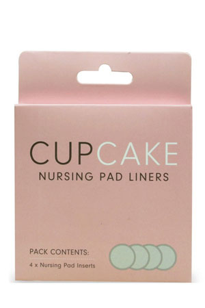 CupCake Nursing Pad Liners (4-pieces) (Natural) by Cake Lingerie