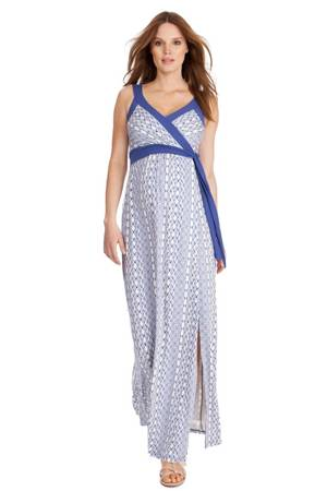 Seraphine Addelyn Aztec Maternity Dress (Ocean) by Seraphine