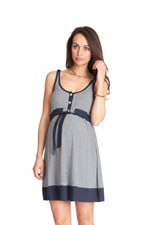 Seraphine Alana Sleeveless Nautical Nursing Dress (Navy & White) by Seraphine