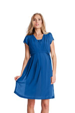 Seraphine Jodie Chiffon Pleated Nursing Dress (Ocean) by Seraphine