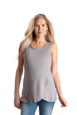 Seraphine Rosalie Studded Mock Wrap Nursing Top (Pebble with Silver Studs) by Seraphine