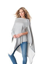 Seraphine Dottie Reversible Bamboo Nursing Shawl (Grey & White Polka Dot) by Seraphine