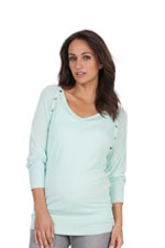 Seraphine Rebecca Knitted Bamboo V-Neck Nursing Top (Mint) by Seraphine