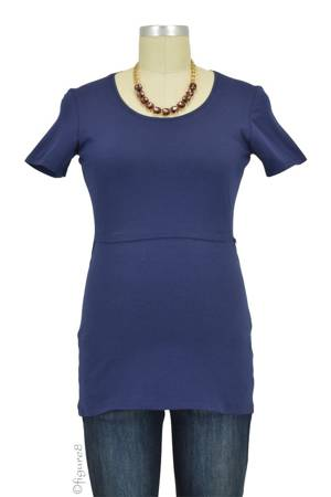 Boob Design Classic Organic Scoop Neck Nursing Top (Navy) by Boob Design