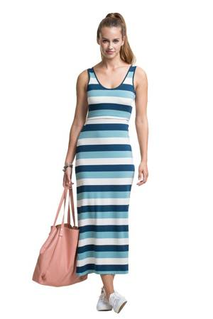 Boob Designs Cameron Nursing Maxi Dress (Multi-Stripe Blue) by Boob