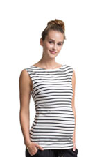 Boob Design Simone Organic Nursing Tank (Off White & Black Stripes) by Boob Design