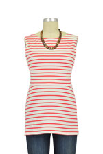 Boob Designs Simone Organic Nursing Tank (Off White & Red Stripes) by Boob