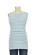 Boob Design Simone Organic Nursing Tank (Stripe Sailor Green Pool) by Boob Design