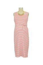 Boob Designs Simone Organic Sleeveless Nursing Dress (Red & Off White Stripes) by Boob