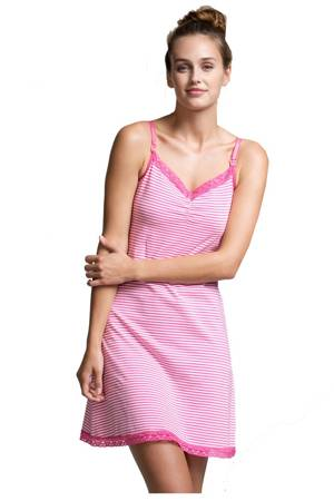 Boob Design Carrie Nursing Night Slip (Off White & Fuschia) by Boob Design