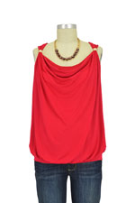 Mélanie Drape Nursing Top (Rouge) by Pomkin
