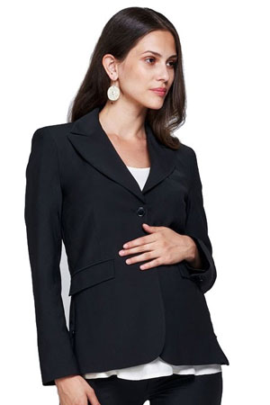 Slacks & Co. Zurich Maternity Career Jacket with Side Zippers by Slacks & Co