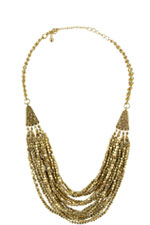 Gold Drape Layer Necklace (Gold) by Jewelry Accessories