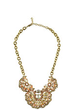 Gold Plated Layered Drop Necklace (Gold) by Jewelry Accessories