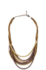 Slinky Rope Necklace (Brown/Gold) by Jewelry Accessories