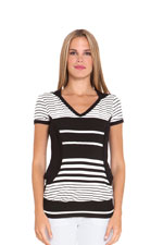Aline Nursing Hoodie (Black & White Stripes) by Olian