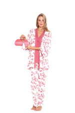 Mackenna 4-pc. Nursing PJ Set with Baby Outfit and Gift Box (Pink Floral) by Olian