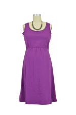 Avery Organic Cotton Scoop Neck Nursing Dress (Amethyst) by Mothers en vogue