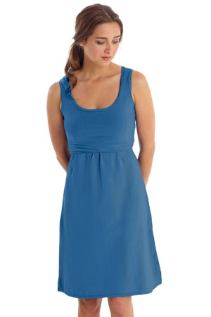 81b1cce606bc1 Avery Organic Cotton Scoop Neck Nursing Dress (Habour Blue) by Mothers en  Vogue