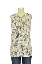 Athena Drape Sleeveless Nursing Top (Soft Hatch Print) by MEV