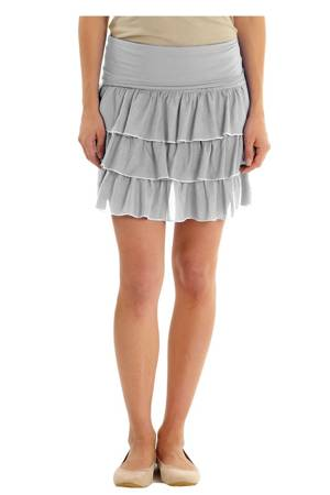Flirty Layered Maternity Skirt (Dove Grey/Turtle Dove) by MEV