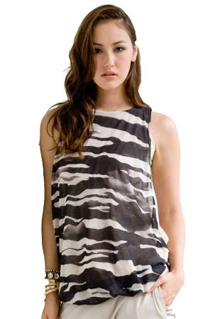 Milla Bubble Hem NursingTank (Zebra Print) by MEV