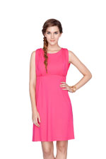 Nadia Empire Nursing Dress (Fuchsia) by Dote