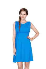 Nadia Empire Nursing Dress (Royal Blue) by Dote