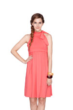 Maddie Halter Nursing Dress (Coral) by Dote