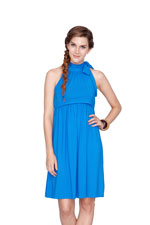 Maddie Halter Nursing Dress (Royal Blue) by Dote