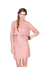 Bobbie Nursing Shirtdress (Blush) by Dote