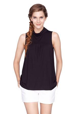 Norma Roll Neck Nursing Top (Black) by Dote