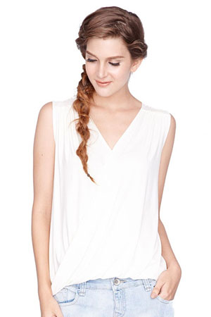 Alba Twist V-Neck Nursing Top by Dote