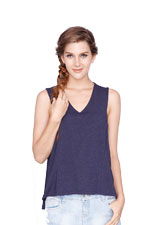 Violet Sleeveless Nursing Top (Dark Blue) by Dote
