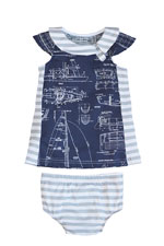 The Jane Baby Dress by Shirley & Victor (Ahoy) by Shirley and Victor, Baby by Majamas