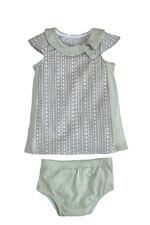The Jane Baby Dress by Shirley & Victor (Steel Diamond) by Shirley and Victor, Baby by Majamas